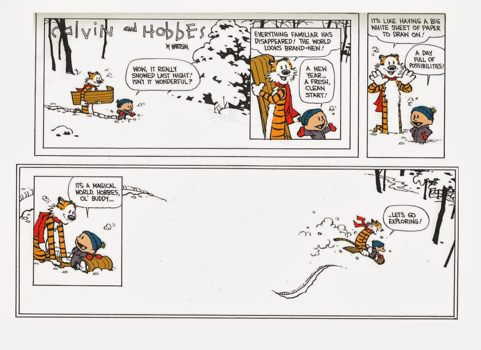 Calvin and Hobbes Snow Day