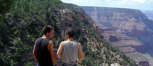 Tim & Jus at the Grand Canyon, 2005.