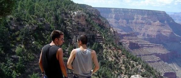 Tim & Jus at the Grand Canyon, 2005.